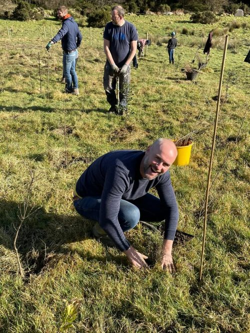 Alan Coleman Reforestation project Ireland